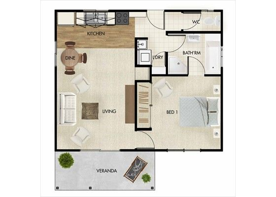 Granny flat garage conversions and brisbane on pinterest for Plans for garage conversion