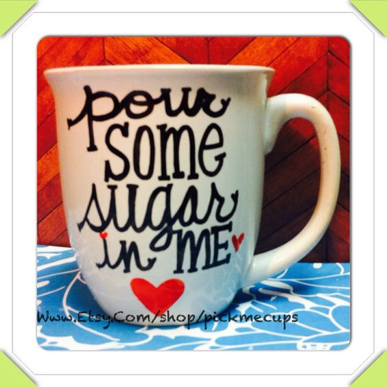 Pour some sugar in me - def leopard coffee mug funny coffee cup on Etsy, $18.00
