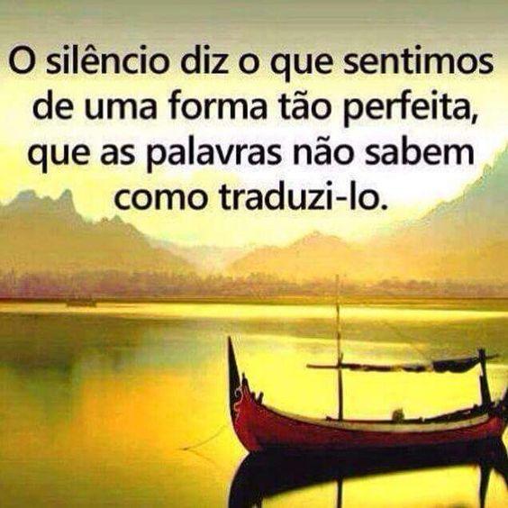 O silêncio é importante!