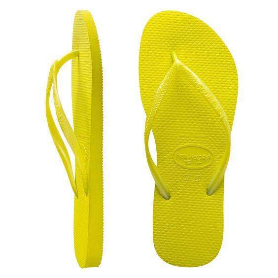Havaianas Slim Metallic Neon Yellow $29.99