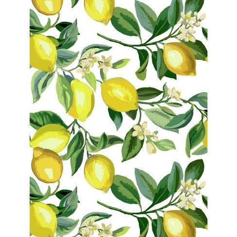 Roommates Lemon Zest White Peel And Stick Wallpaper Peel And Stick Wallpaper Wallpaper Wallpaper Warehouse