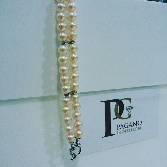 Bracciale doppio filo in perle un eleganza senza tempo  #agira #gioiello #leonforte #sanvalentino #love #amore #infinity #infinito #morellato #swarovski #diamante #corallo #perle #cammeo #tourbillon by gioielleriapagano
