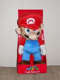 "New Super Mario Bros. Plush Backpack 15"" w/ box. For more visit me at www.dandeepop.com"