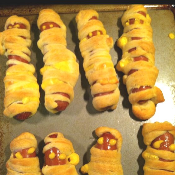 """""""mummy dogs"""" made with crescent rolls"""