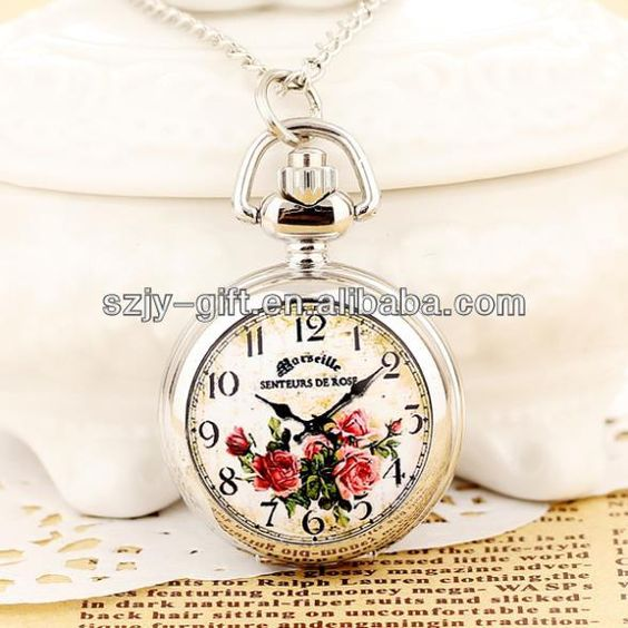 Antique Watch Women's Pocket Watches Small Necklace Clock Women Mini Gifts Rose Pendant Watch Wholesale Dropship Russia