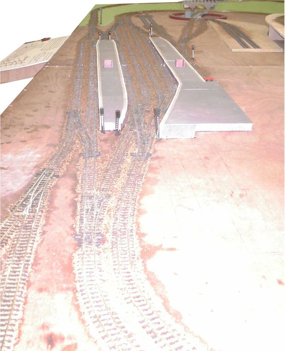 TT gauge railway, showing control panel and station platforms