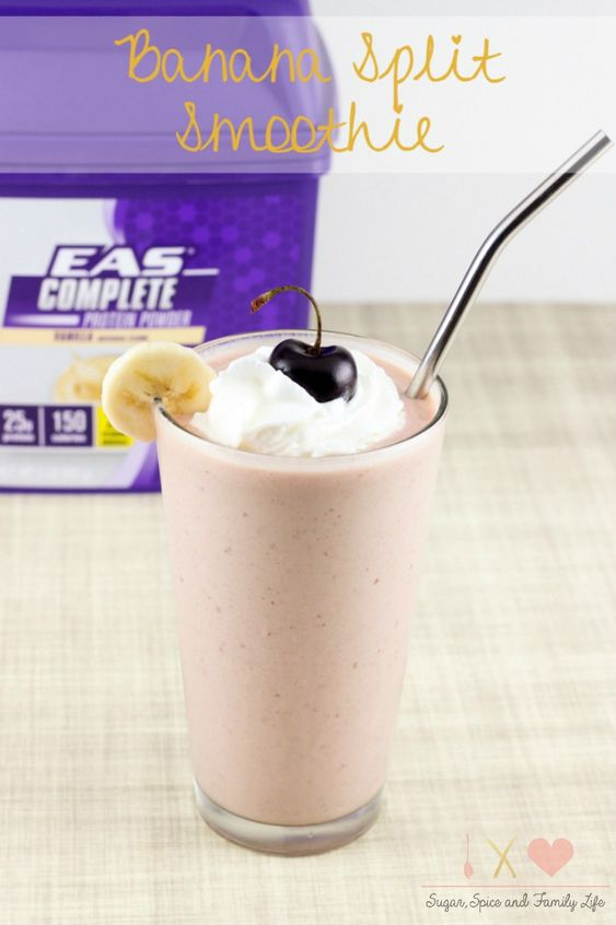 Banana Split Smoothie Recipe - Sugar, Spice and Family Life