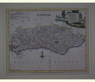 A Modern Map of Sussex. 1766-77