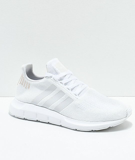 Adidas Swift White Rose Gold Shoes In 2020 White Tennis Shoes
