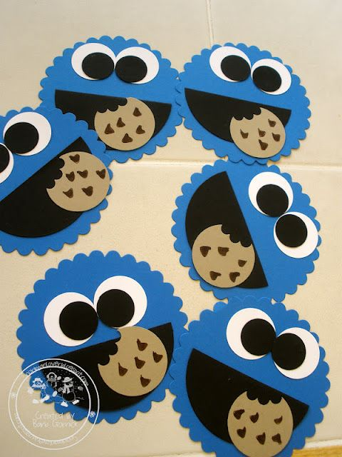 Stampin' Up! Cookie Monsters!   Made with Stampin' Up! Punches and Dies.  Could be really cute for kids' party.