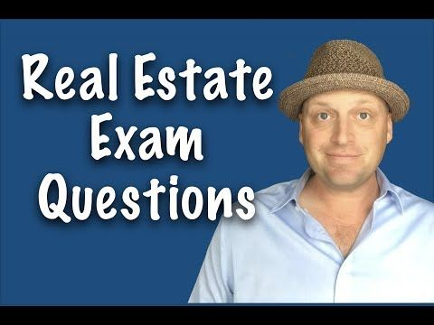 Real Estate Exam Questions Review Session June 2017 Youtube Real Estate Exam Real Estate Training This Or That Questions