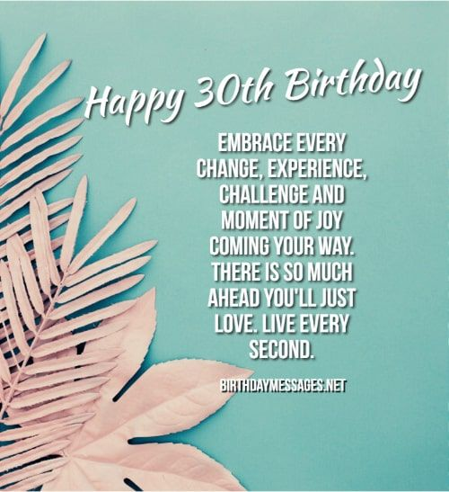 Happy 30th Birthday Wishes Quotes 30th Birthday Messages In 2020 30th Birthday Wishes Birthday Wishes Quotes Happy 30th Birthday Wishes
