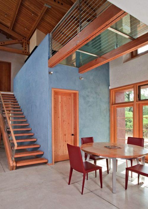 Richtig verstanden – Sie können Blau im Esszimmer benutzen! - blau im esszimmer pastelltöne helles holz