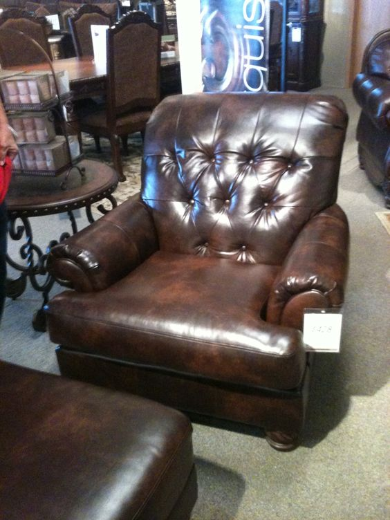 Marvelous Ashley Furniture Leather Chairs #11: Tufted Leather Chair - Ashley Furniture