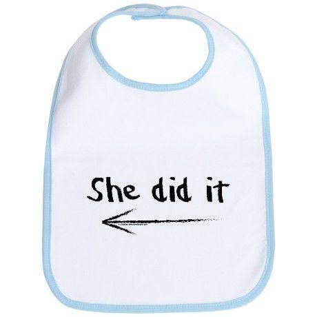 She did it! Bib