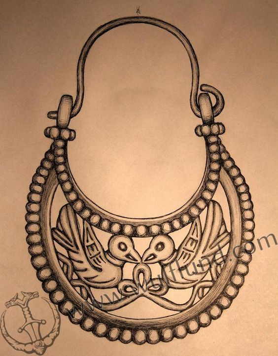 BYZANTINE EARRINGS, X. Century, Viking Rus, silver 925