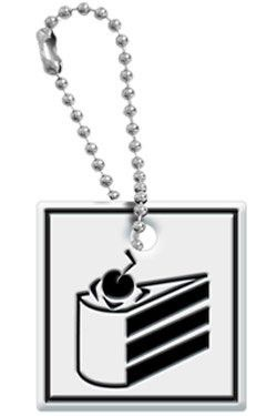 Portal Cake Level Sign Key Cap