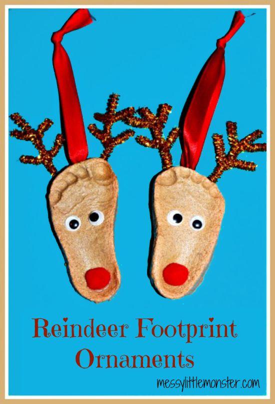 Pâte à sel Artisanat: Reindeer Empreinte Ornements