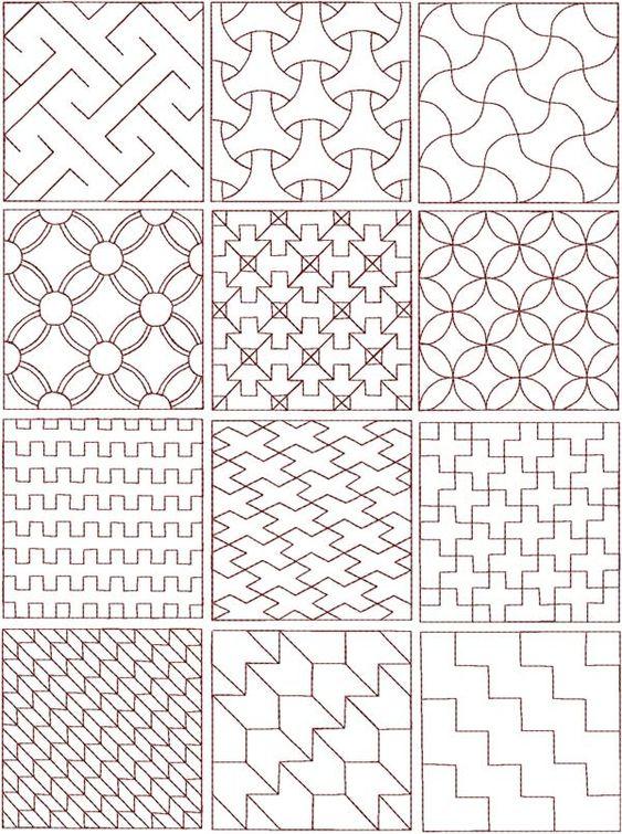 sashiko patterns: