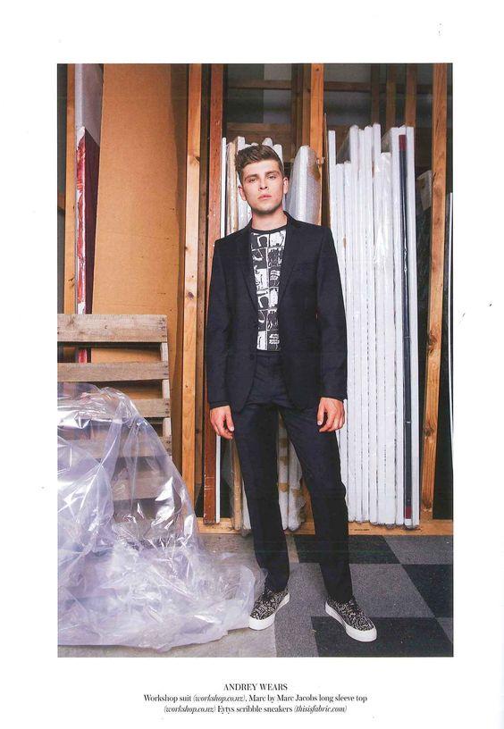 Denizen Magazine Issue 14 - Workshop Denim Suit and Marc by Marc Jacobs Long Sleeve Top