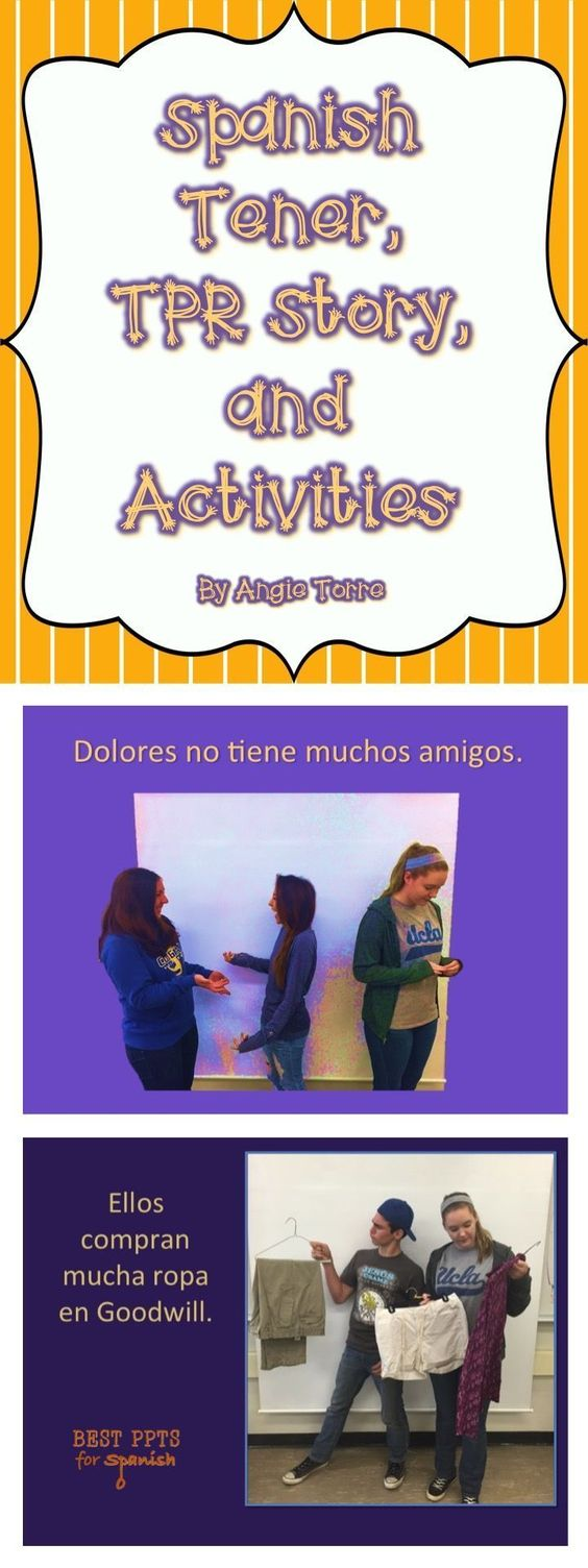 Spanish Tener Tpr Activities Story With Visuals Using The Verb Tener Multiple Times The Story Is A Spanish Tener Tpr Stories Spanish Teaching Activities [ 1504 x 564 Pixel ]
