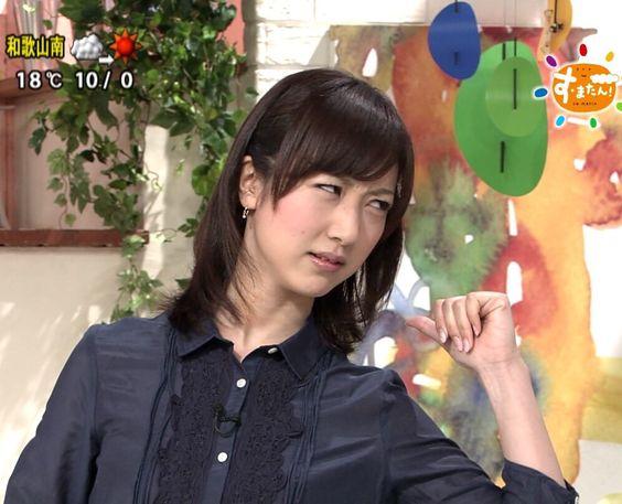 川田裕美アナウンサーの睨んだ顔