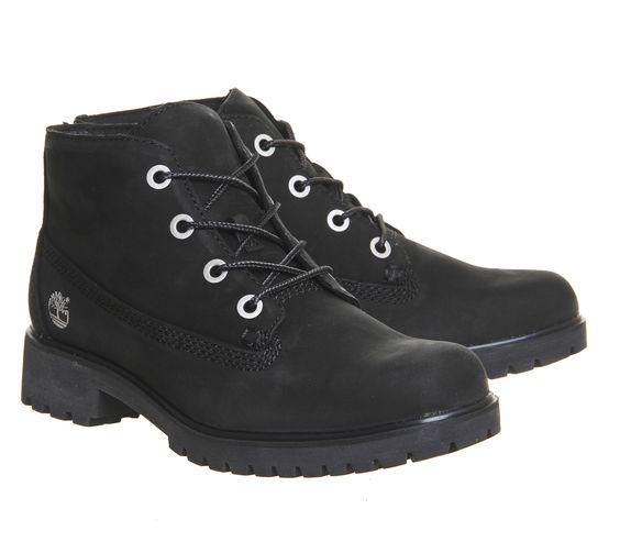 Timberland Slim Nellie Chukka Boots Black Nubuck - Hers Exclusives