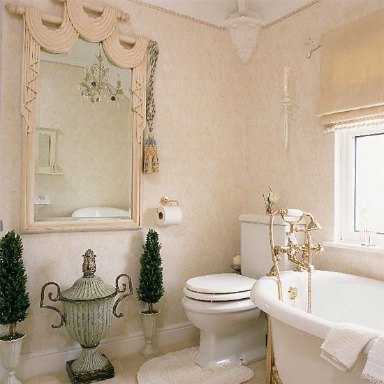 Bathroom With Greek Style Urns Freestanding Bath Designs And