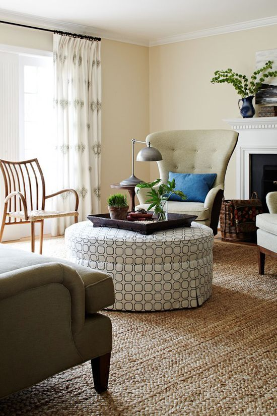 Trend Ottomans As Coffee Tables In 2020 Round Ottoman Living Room Furniture Furniture