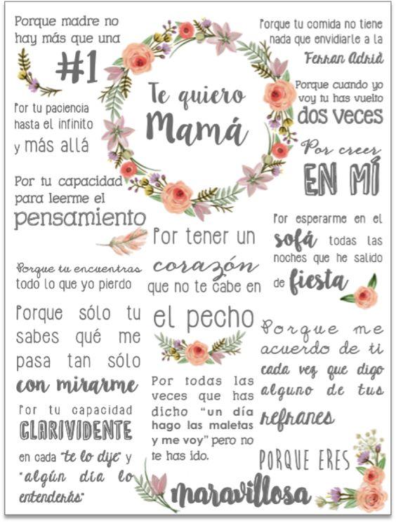 Bonjour Magique: Descargables para el Día de la Madre: