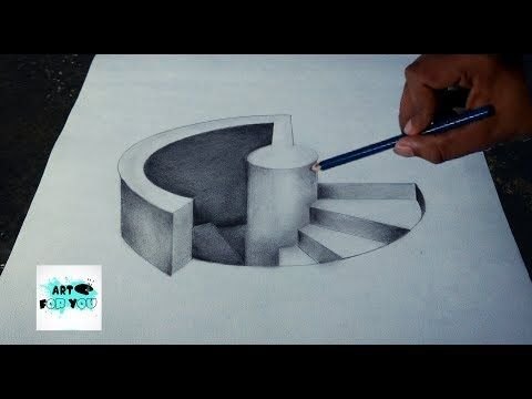 Drawing Stairs To The Door How To Draw 3d Steps Anamorphic Illusion Vamos Youtube 3d Pencil Drawings 3d Drawings 3d Art Drawing