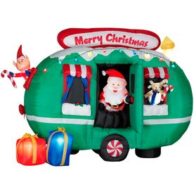 6 ft airblown inflatable santa christmas animated lighted for Airstream christmas decoration