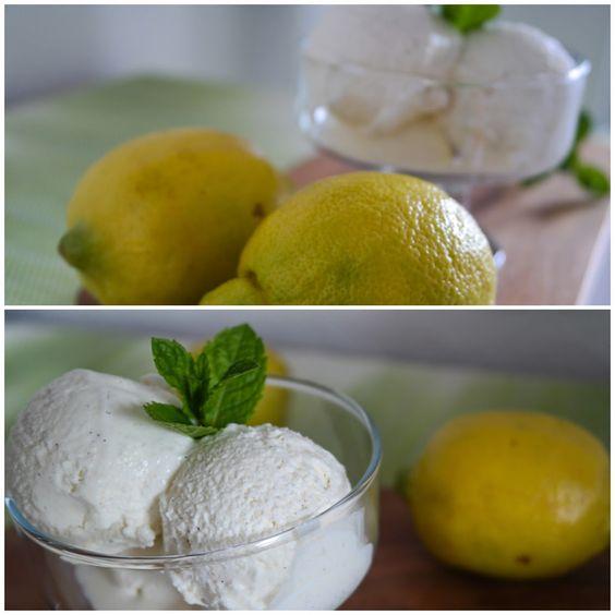 Zitronen-Buttermilcheis