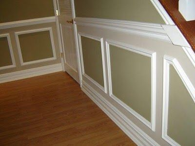 two tone picture frame wainscoting chair rail and