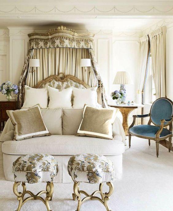 elegant, tailored and refined master bedroom designed by suzanne kasler