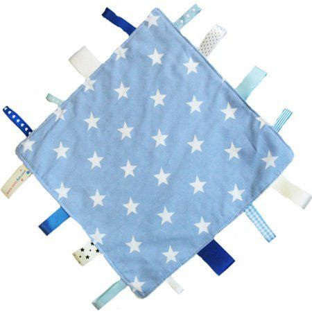 Neue, handgemachte Sicherheitsdecke Steppdecke von Dotty Fish. Hergestellt in England. Blaues Stardesign. von Dotty Fish, http://www.amazon.de/dp/B00DYV0DFE/ref=cm_sw_r_pi_dp_WBBdsb1Q9RBKG