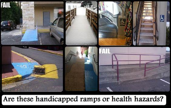 bad handicap ramps