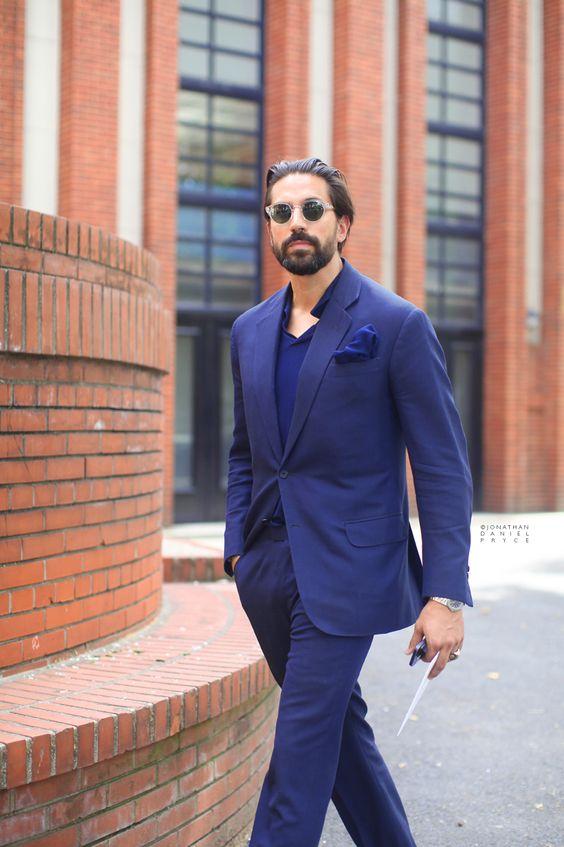 All blue suit at Paris Fashion Week | Men's Suits | Pinterest
