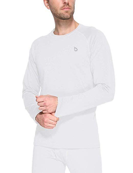 BALEAF Mens Heavyweight Thermal Shirt Fleece Baselayer Long Sleeve Crewneck Top
