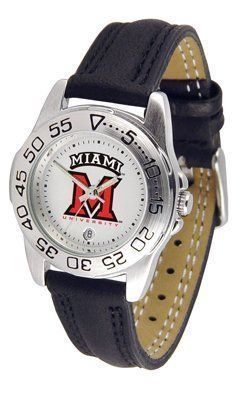 Miami (Ohio) RedHawks Suntime Ladies Sports Watch w/ Leather Band - NCAA College Athletics by Sun Time/Links Warner. $41.95. The Lady's Sport AnoChrome Watch is a step up in the Lady's Sport series. The anochrome dial option increases the visual impact with a stunning radial reflection similar to that of the shiny underside of a music CD. A date calendar plus a rotating bezel/timer circles the scratch resistant crystal. Sport your team's bold, colorful, high quality logo with...