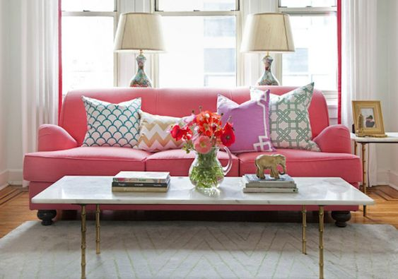 Pink couch: