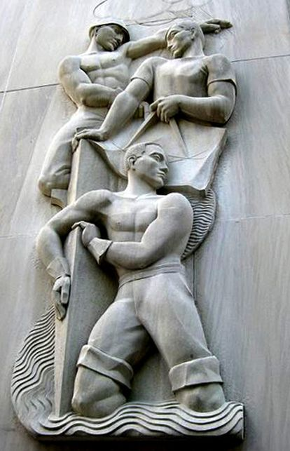 US Art Deco: Bas-relief on the F. Edward Hebert Federal Building ...