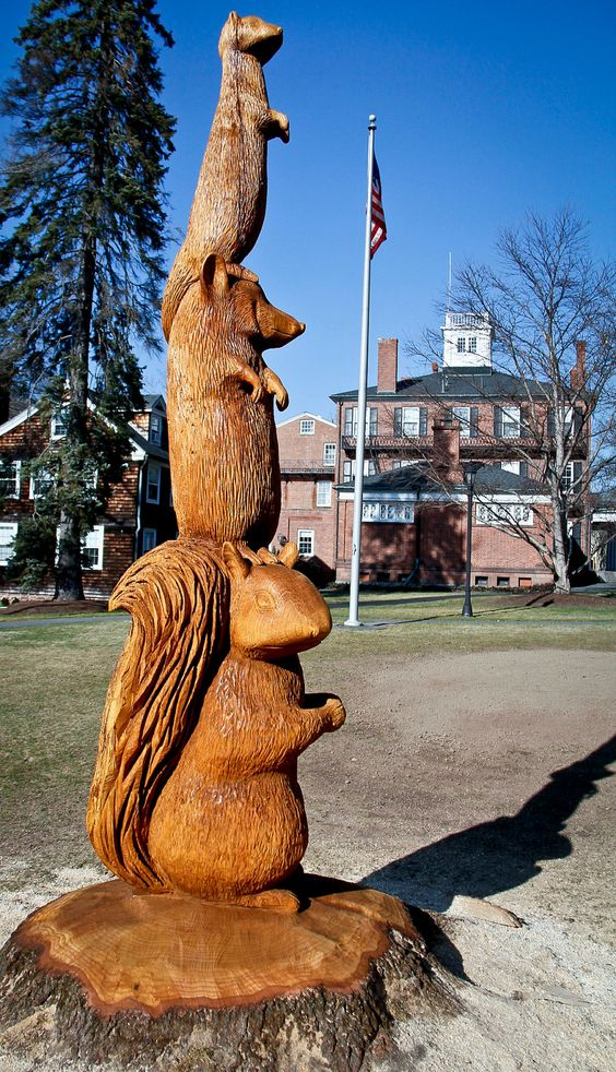 School mascot sculpture via etsy wood