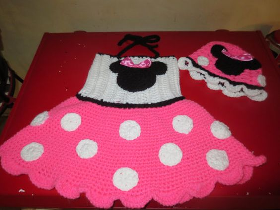 Crochet Minnie Mouse Dress And Hat Hats Dresses And Crochet