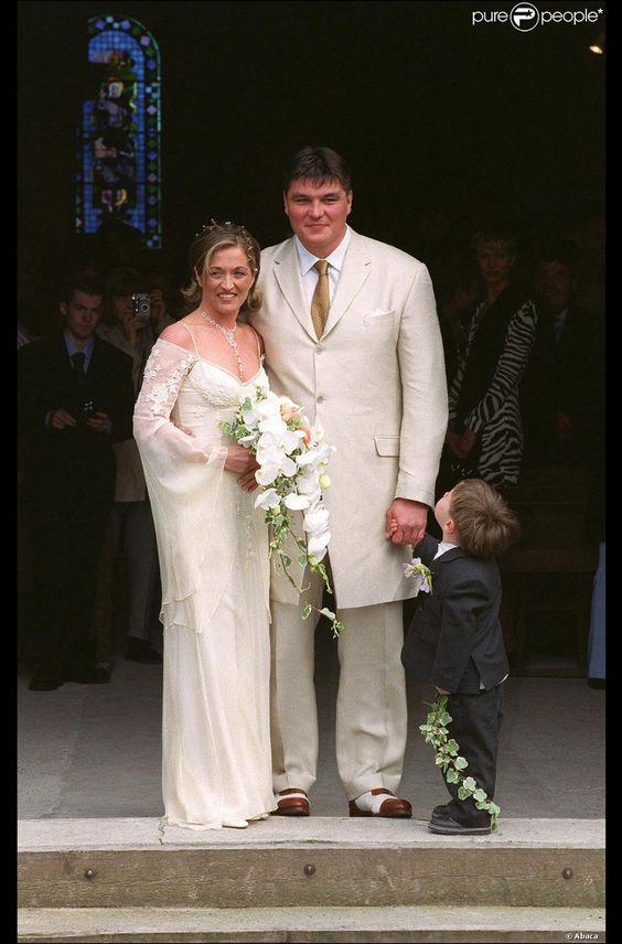 Valérie et David Douillet le jour de leur mariage, le 14 avril 2001