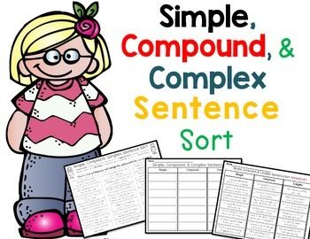 Simple, Compound, and Complex Sentence Sort - Activiteiten ...