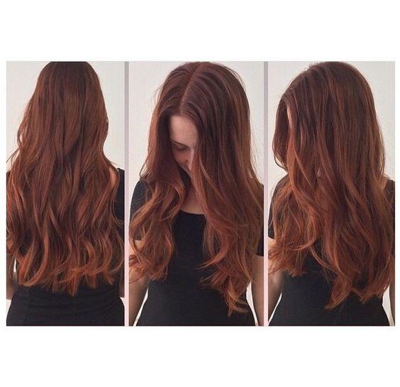 Copper Red hair colour. Hair by Sue @ Salon B, Amsterdam