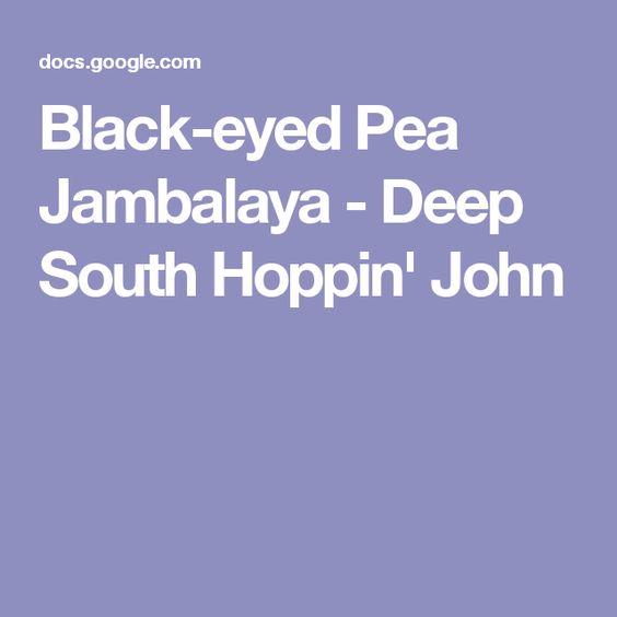 Black-eyed Pea Jambalaya - Deep South Hoppin' John