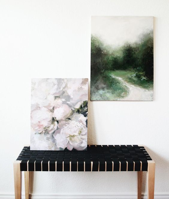 Deep Woods and Warm Peonies by Sarah C. Nightingale. Prints and Originals available at www.SarahNightingaleArt.com