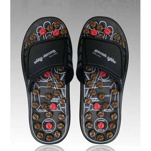 Deluxe Comfort Reflexology Rotating Massage Head Sandal - $38 (reg $40)
